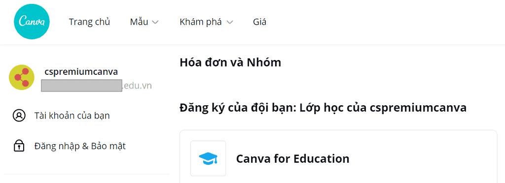 Chia sẻ tài khoản Canva Pro/Edu