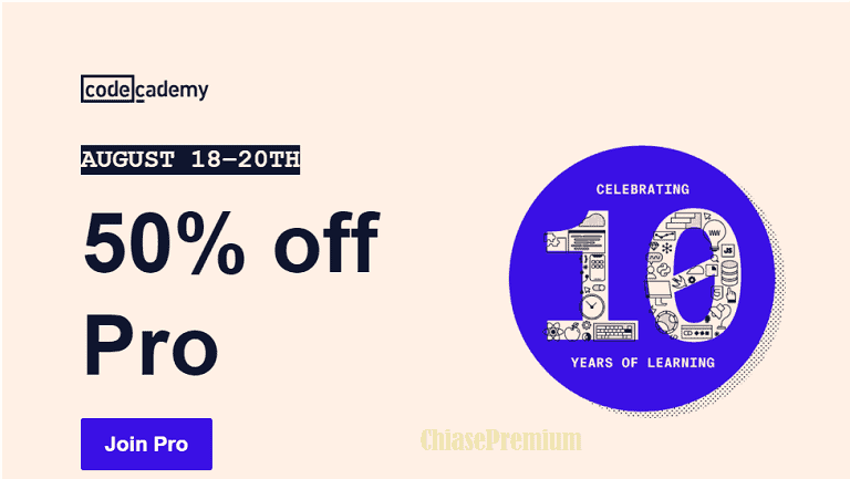 codecademy-50-percent-off-pro-10-years