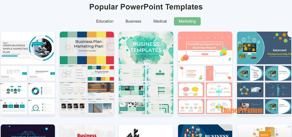 Download mẫu PowerPoint đẹp từ PNGtree