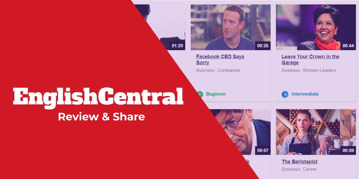 EnglishCentral English learning platform interactive videos