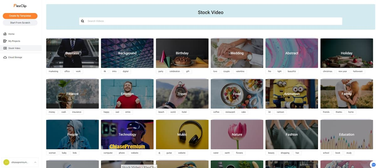 flexclip-stock-video