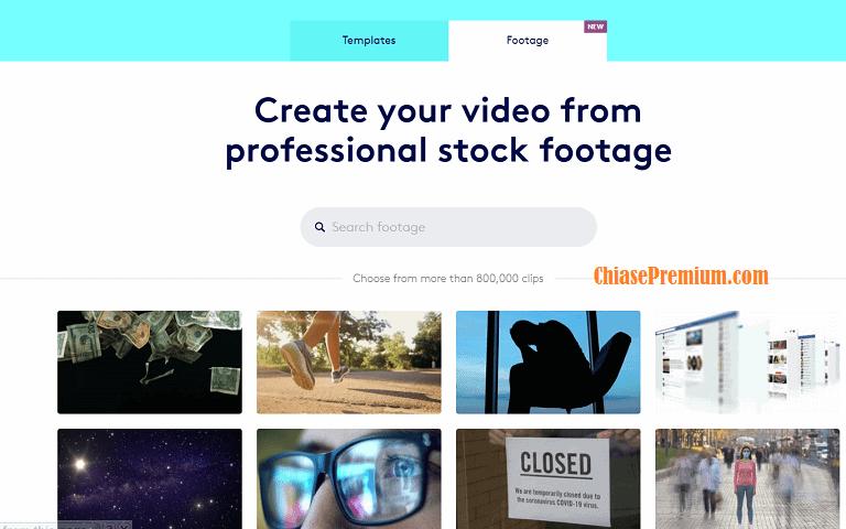 Thư viện footage trên Tài khoản Biteable