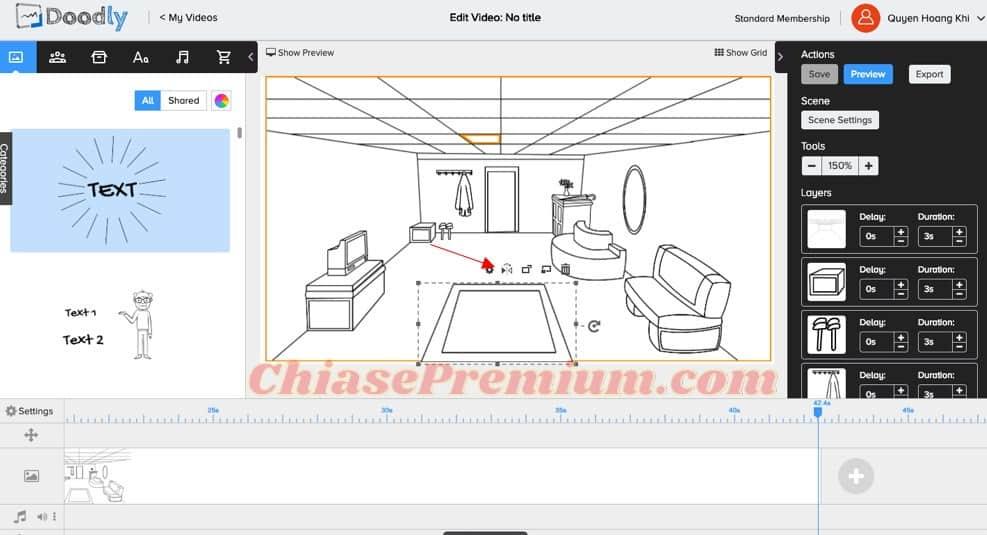 11-Thanh công cụ để bạn chỉnh sửa các yếu tố bên trong khung hình
