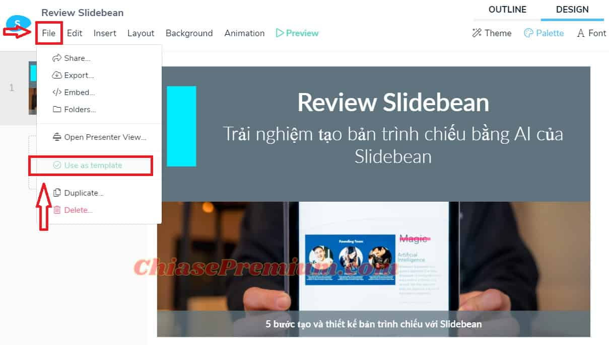 Hoàn thiện slide và các thao tác với bản trình chiếu