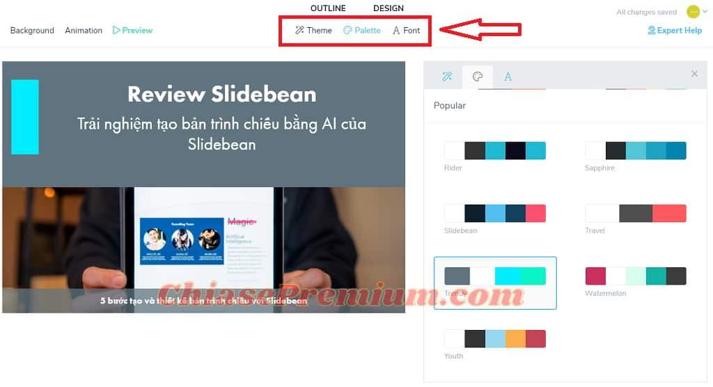 Thiết kế và thêm hiệu ứng cho slide