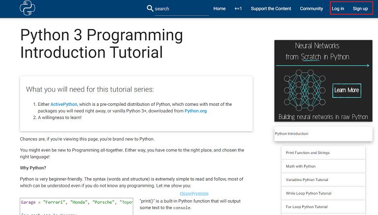Học Python miễn phí trên Python Programming