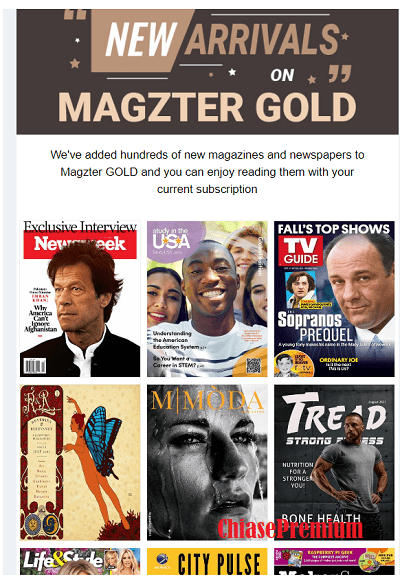 new magazines and newspapers are added to Magzter GOLD