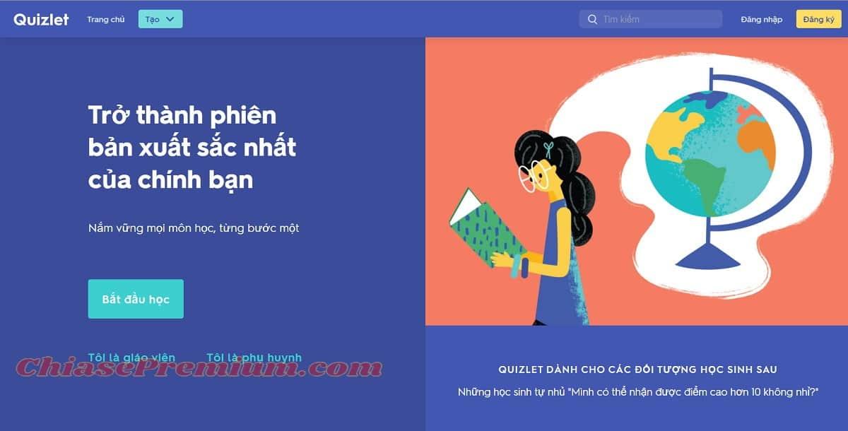 Quizlet được tạo ra để hỗ trợ học viên trên toàn thế giới, kể cả Việt Nam