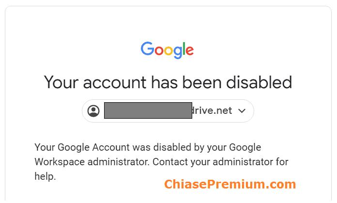 Tài khoản Google Drive mình mua đã không thể tiếp tục sử dụng được.